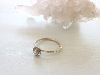 Silver Poing Ring*ラブラドライト*シルバー950リング*no.410の画像