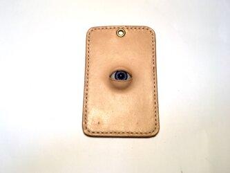 (受注製作)目玉の付いたパスケースの画像