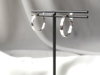 Silver950 シンプルなイヤーカフ 大サイズペアの画像