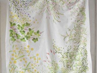 コットンシルクスカーフ「wild flower」の画像