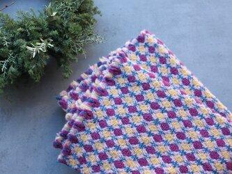 2重織りブランケット(purple)の画像