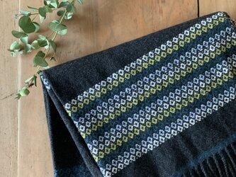 手織りカシミヤ大判ストールの画像
