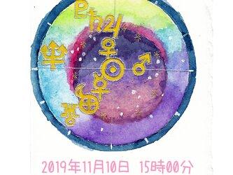 惑星チャートと惑星カラーで表現する小さな絵。※注:占いではありませんの画像