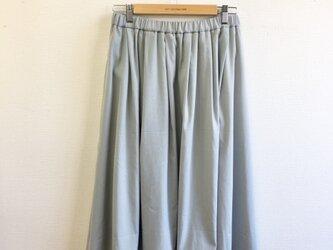 一点もの❗️爽やかパステル❤️水色のふんわりロングスカート (サイズフリー L〜 L L)裏地付きの画像