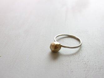 ブラスストーンリング*シルバーリング*真鍮*指輪*no.412の画像