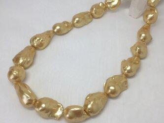 バロックパールのネックレス ゴールドの画像