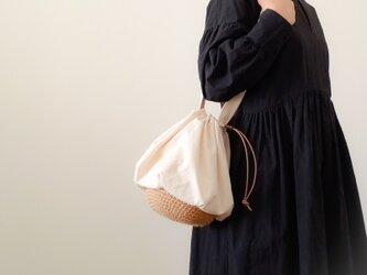Drawstring bag Cotton キナリの画像