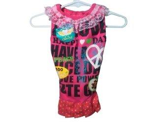 ♡胸34・Tシャツ素材♡パープルワンピース・かわいい手作り犬服の画像
