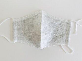 SALE 大人用立体型マスク(ヨーロッパ白リネン+シーチング)の画像
