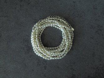 真珠の二連ロングネックレスの画像