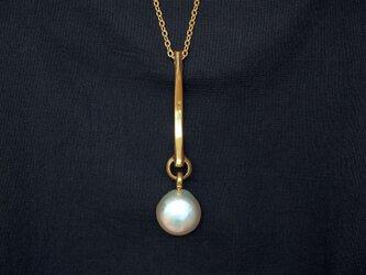 一つ真珠のネックレスの画像