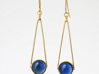 ブルー系ガラスのピアス(イヤリング)の画像