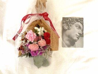 ローズとカーネションのブーケ【レッド】 母の日 の画像