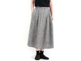 タックギャザースカート(グレンチェック)#309の画像