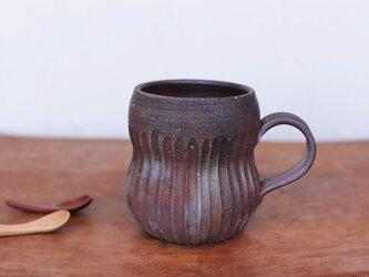 備前焼 コーヒーカップ(鎬) c11-007の画像