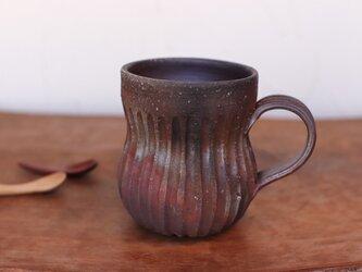 備前焼 コーヒーカップ(鎬) c11-008の画像