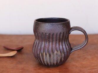 備前焼 コーヒーカップ(鎬) c11-009の画像