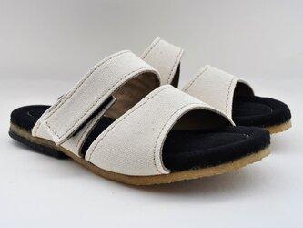 natural sandals #倉敷帆布 #受注製作の画像