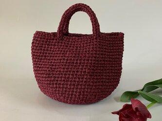 裂き編みバッグ マルシェ Sサイズの画像