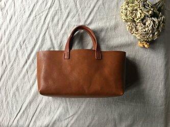 【限定品】『tosca』 革袋 chestnuts brown S 手提げの画像