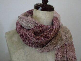 《手織り》シルク100% さくら色のストール②の画像