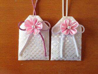 元巫女の桜のお守り袋(桜)の画像
