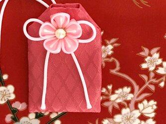 (桜花菱)元巫女が作る花のお守り袋の画像