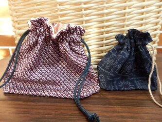 巾着袋 2枚 (3)の画像