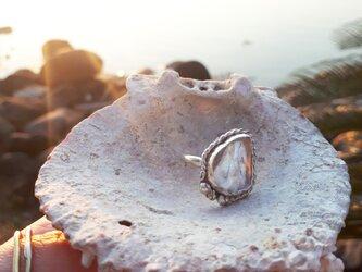 【12号】silver925 chrystal tumble ringの画像