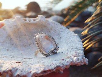 【14.5号】silver925 chrystal tumble ringの画像