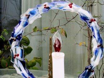 クリスマスリース・ガラスの画像