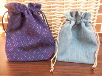 巾着袋 2枚 (5)の画像