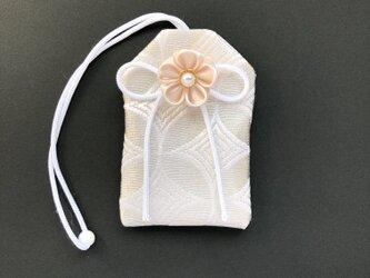 元巫女の白のお守り袋(白)の画像