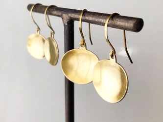 bowl earring/brass/プレーンの画像