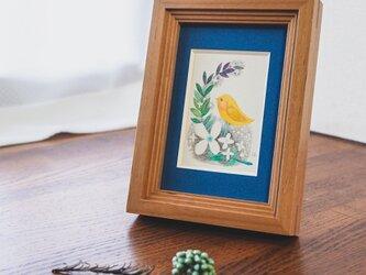 水彩原画『檸檬鳥』日々を愉しむちいさな絵 額装品の画像