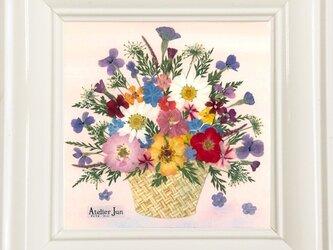 現品特別価格!花かご(15×15)額付きの画像
