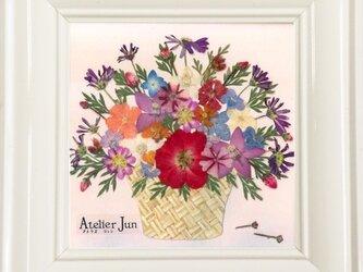 現品特別価格!花かご(10×10)額付きの画像