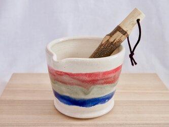 トリコロールのすり鉢の画像