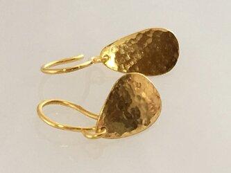 K24 Pure Gold ◇純金シジミチョウの羽根◇揺れるピアスの画像
