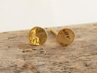 K24 Pure Gold Moon ◇小さな純金の満月◇スタッドピアス◇片耳分~の画像