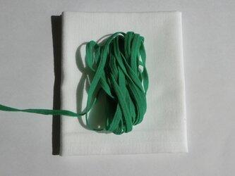 手作りマスク応援キット 緑色 巾着袋の製作にも 晒生地とウーリースピンテープの画像