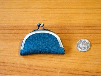 がまぐち スリムコインケース(S) No.253 イタリアレザーターコイズブルーの画像