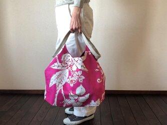 でかくたバッグ マゼンダピンクの画像