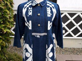 着物リメイク 手作り 半纏 上着の画像