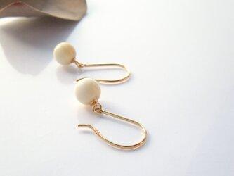 k18✼Makkoh pierced earrings 92077の画像