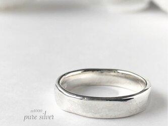 サイズ入荷❣️ぽこぽこ4㎜リング 純銀  purecubicの画像