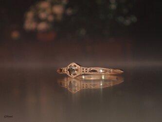 ローズカットダイヤモンド リング  コーヒーブラウン (Noble Ring)の画像