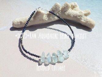 *sv925*Raw Aquamarine spinel braceletの画像