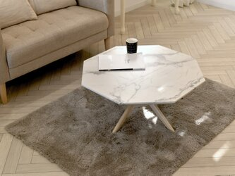 Marble Center Table 75 / WHの画像