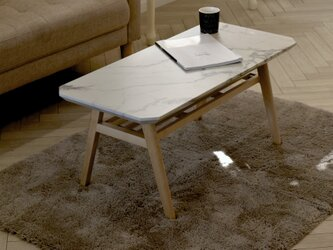 Marble Center Table 90 / WHの画像
